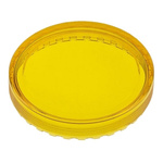Yellow Round Flat Push Button Indicator Lens for use with 04 Series Push Button