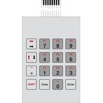 Bopla IP65 16 Key Conductive Silver Membrane Keypad
