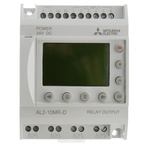 Mitsubishi Electric Alpha 2 Logic Module, 24 V dc Relay, 6 x Input, 4 x Output With Display