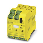 Phoenix Contact PSR-TRISAFE PSR-SCP- 24DC/TS/S Series Safety Controller, 20 Safety Inputs, 6 Safety Outputs, 24 V dc