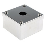 Stainless Steel ABB Compact Push Button Enclosure - 1 Hole 22mm Diameter