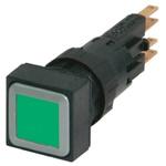 Eaton, RMQ16 Illuminated Green Square, 16mm Momentary Push In