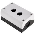 Eaton Grey Plastic M22 Push Button Enclosure - 2 Hole 22mm Diameter