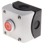 Eaton Momentary Enclosed Push Button - NO/NC, Plastic, 1 Cutouts, Red, O, IP69K