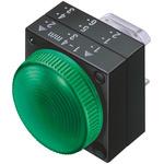 Siemens Green Pilot Light Head, 22mm Cutout 3SB3 Series
