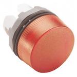 ABB Red Pilot Light Head, 22mm Cutout ABB Modular Series