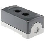 Grey Plastic ABB Modular Push Button Enclosure - 2 Hole 22mm Diameter