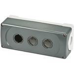 Grey Plastic ABB Modular Push Button Enclosure - 3 Hole 22mm Diameter