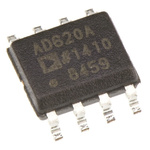 AD620ARZ Analog Devices, Instrumentation Amplifier, 0.125mV Offset 120kHz, 8-Pin SOIC