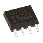 AD620BRZ Analog Devices, Instrumentation Amplifier, 0.05mV Offset 120kHz, 8-Pin SOIC