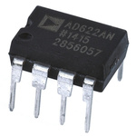 AD622ANZ Analog Devices, Instrumentation Amplifier, 0.125mV Offset 1MHz, 8-Pin PDIP