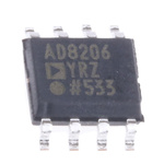 AD8206YRZ Analog Devices, Differential Amplifier 100kHz 8-Pin SOIC