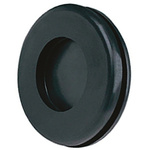 Richco Black PVC 20mm Round Cable Grommet for Maximum of 15.5 mm Cable Dia.