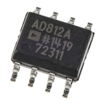 AD812ARZ Analog Devices, 2-Channel Video Amplifier IC 125V/μs, 8-Pin SOIC