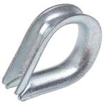 RS PRO Steel Galvanised Thimble, 5mm