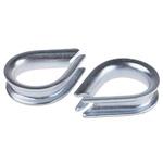 RS PRO Steel Galvanised Thimble, 6mm
