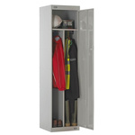 RS PRO 1 Door Steel Grey Locker, 1800 mm x 450 mm x 450mm