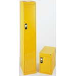 RS PRO 1 Door Steel Yellow Locker, 1700 mm x 300 mm x 450mm