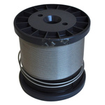 RS PRO Stainless Steel Wire Rope, 100m