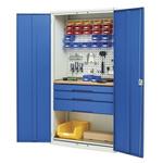 Bott 2 Door Steel Lockable Floor Standing Storage Cabinet, 2000 x 1050 x 550mm