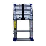 TUBESCA Telescopic Ladder Aluminium 13 steps 3.8m open length