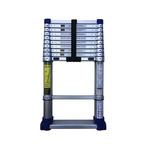 TUBESCA Telescopic Ladder Aluminium 11 steps 3.2m open length