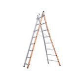 TUBESCA Aluminium Combination Ladder 8 steps 2.41m open length