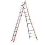 TUBESCA Aluminium Combination Ladder 10 steps 2.97m open length