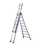TUBESCA Aluminium Combination Ladder 9 steps 2.65m open length