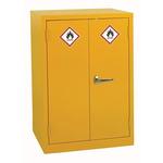 RS PRO Yellow Steel Lockable 2 Doors Hazardous Substance Cabinet, 900mm x 600mm x 500mm