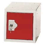 RS PRO 1 Door Red Locker, 305 mm x 305 mm x 305mm
