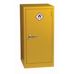 RS PRO Yellow Steel Lockable 1 Doors Hazardous Substance Cabinet, 915mm x 459mm x 459mm
