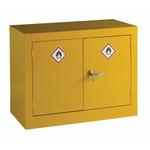 RS PRO Yellow Steel Lockable 2 Doors Hazardous Substance Cabinet, 712mm x 915mm x 459mm