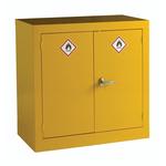 RS PRO Yellow Steel Lockable 2 Doors Hazardous Substance Cabinet, 915mm x 915mm x 459mm