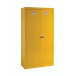 RS PRO Yellow Steel Lockable 2 Doors Hazardous Substance Cabinet, 1830mm x 915mm x 459mm