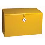 RS PRO Yellow Steel Lockable 1 Doors Hazardous Substance Cabinet, 762mm x 1m x 460mm