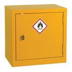 RS PRO Yellow Steel Lockable 1 Doors Flammable Cabinet, 457mm x 457mm x 305mm