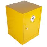 RS PRO Yellow Steel Lockable 1 Doors Flammable Cabinet, 609mm x 457mm x 457mm
