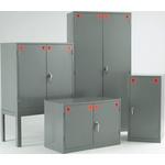 RS PRO Grey Steel Lockable 2 Doors COSHH Cabinets, 915mm x 915mm x 457mm