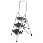 RS PRO 3 Tread Steel Steps 0.67m Platform Height, Black, Grey