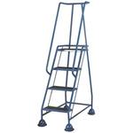 RS PRO 4 Tread Steel Steps 1.03m Platform Height, Blue