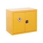 RS PRO Yellow Lockable 2 Doors Hazardous Substance Cabinet, 700mm x 900mm x 460mm