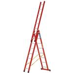 Zarges Aluminium Combination Ladder 24 steps 2.45 → 5.80m open length