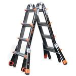 RS PRO Fibreglass Combination Ladder 4 steps 2.74 → 4.57m open length