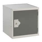 RS PRO 1 Door Steel Grey Storage Locker, 380 mm x 380 mm x 380mm