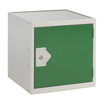 RS PRO 1 Door Steel Green Storage Locker, 380 mm x 380 mm x 380mm