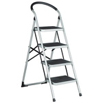 RS PRO 4 Tread Steel Steps 0.93m Platform Height, Silver Grey