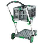 RS PRO 2 Shelf Aluminium Folding Trolley, 670 x 470mm, 50kg Load