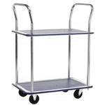 RS PRO 2 Shelf Steel Trolley, 725 x 470mm, 120kg Load