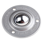 ALWAYSE 3-Hole Flange 32mm Stainless Steel Ball Transfer Unit